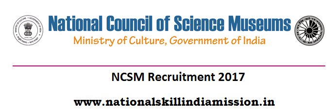 National Council of Science Museums - NCSM Recruitment - Technical Assistant 'A' (Civil) - Last date 10 January 2018
