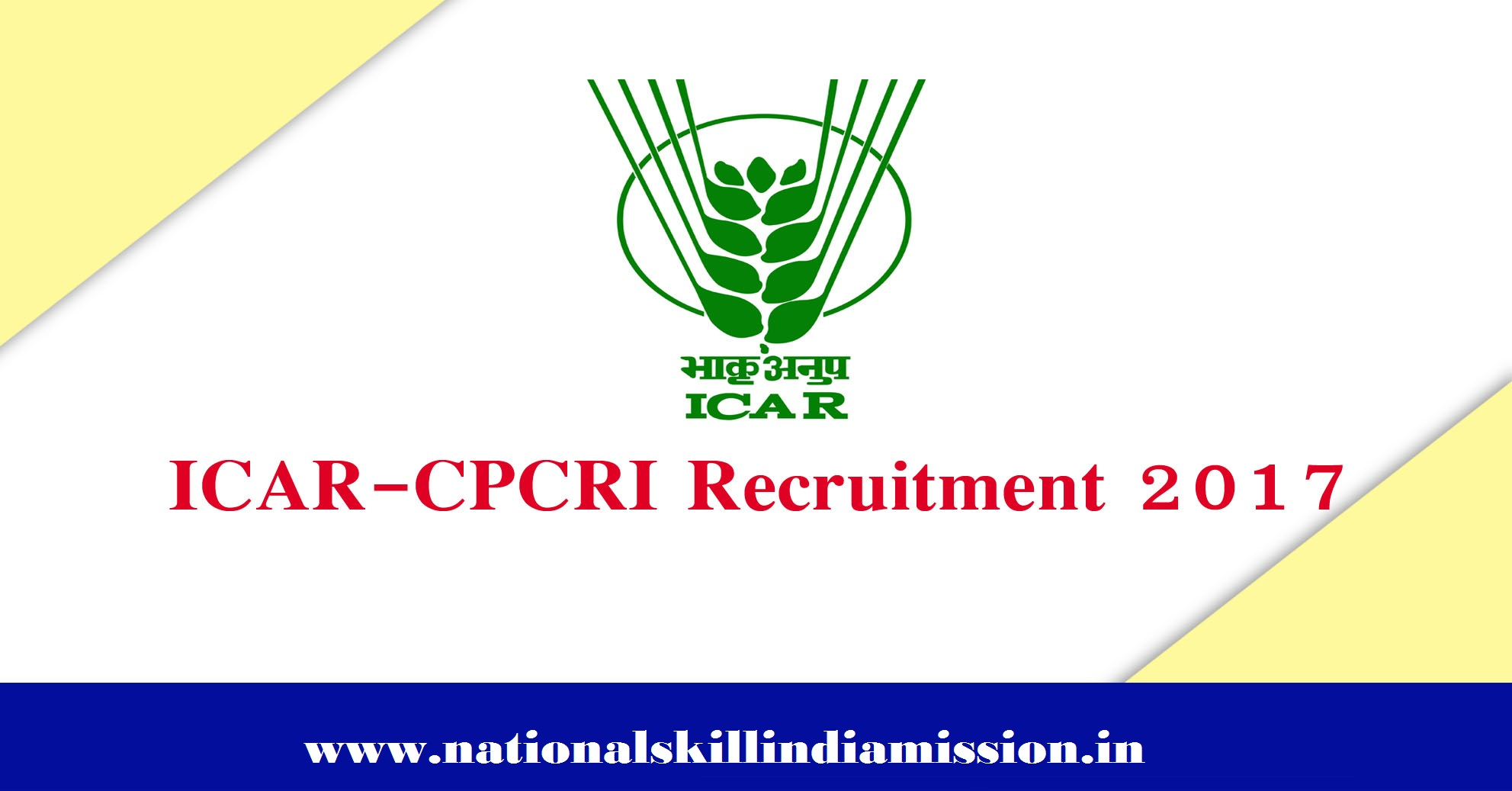 Central Plantation Crops Research Institute - CPCRI Recruitment - Field Assistant - Walk-in-Interview 28 December 2017