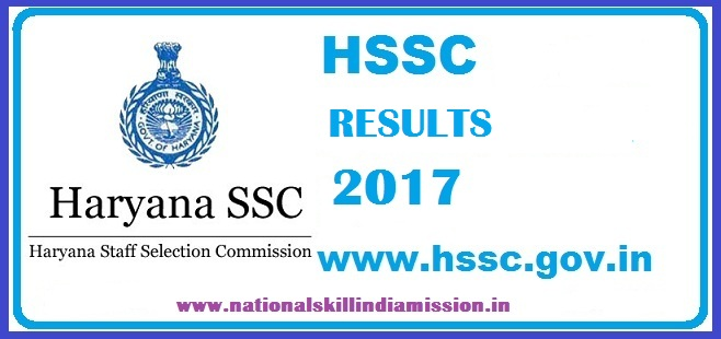 HSSC Results 2017– PGT & TGT Written Test Results published