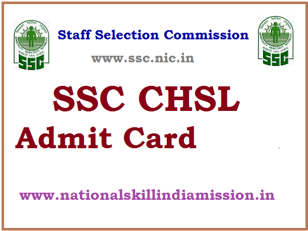 SSCSR – CHSL (10+2) (Tier I) 2016 Re-Exam Admit Card 2017