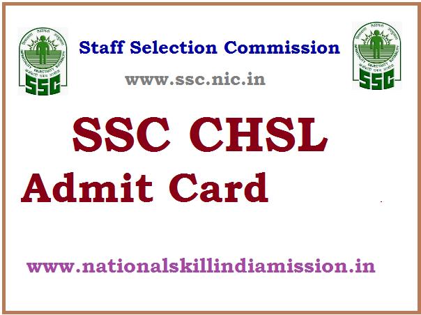 SSCSR – CHSL (10+2) (Tier I) 2016 Re-Exam Admit Card 2017