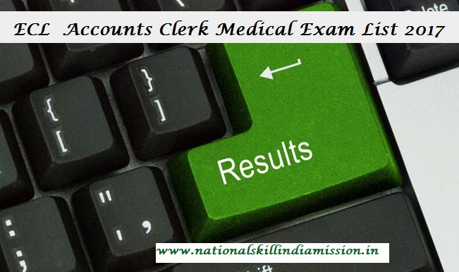 ECL Results 2017 – Accounts Clerk Medical Exam List Declared