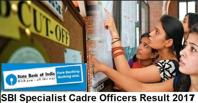 SBI Results 2017 – Specialist Cadre Officer Interview List Published!!!