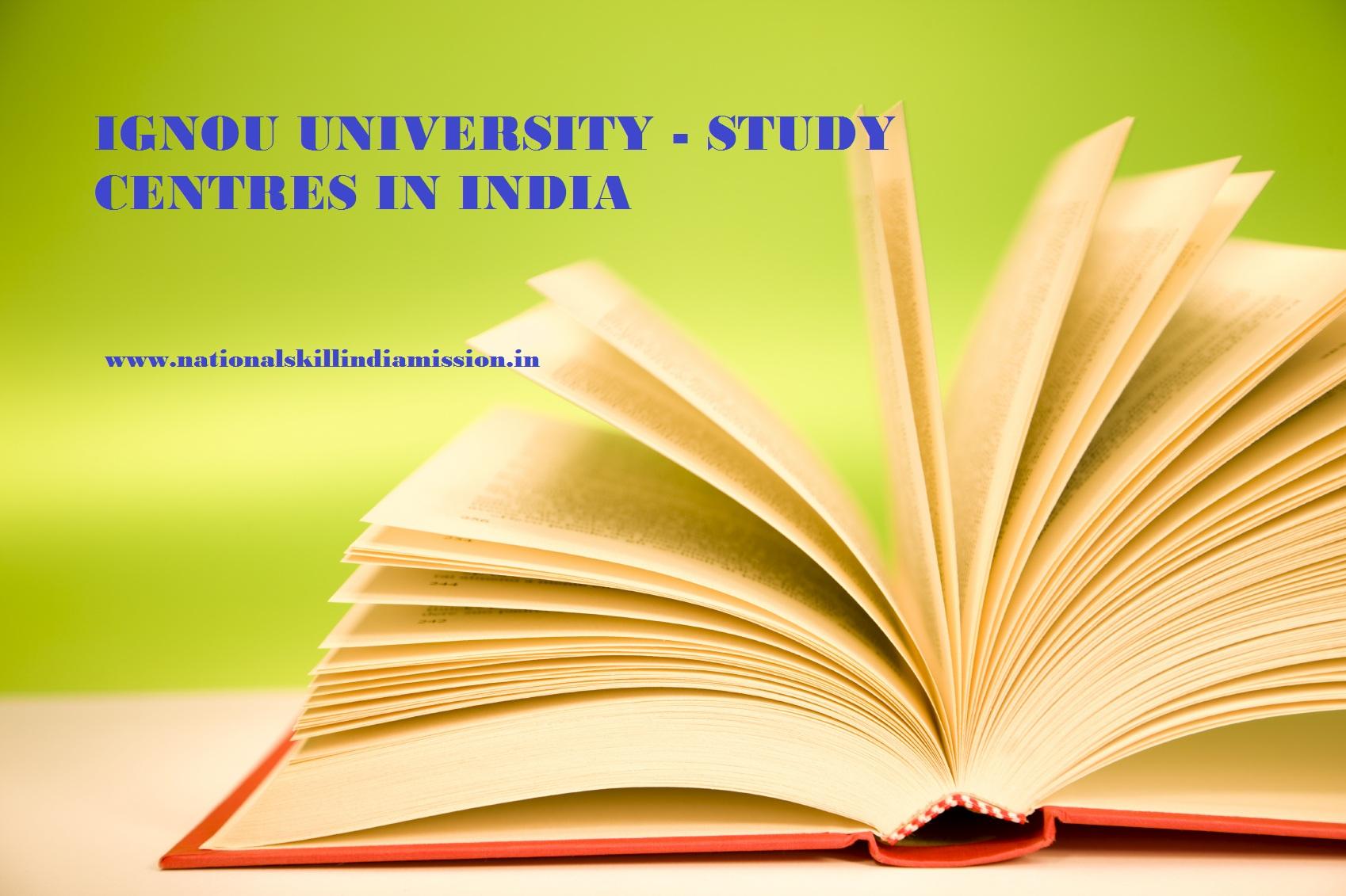 IGNOU University - Regional Centres in India