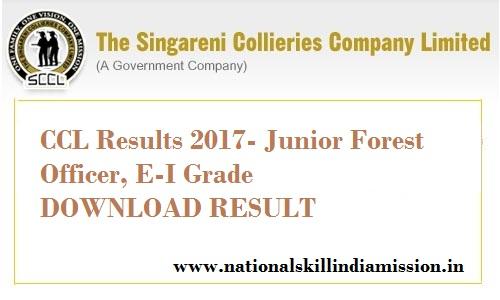 CCL Results 2017-Jr Forest Officer, E-I Grade Written Test-Results Published