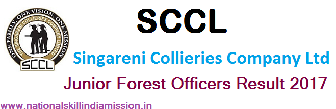 The Singareni Collieries Company Limited-SCCL-Junior Forest Officer-Result Published