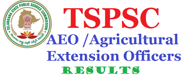 TSPSC – Agriculture Extension Officer CBRT Exam Results 2017