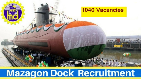 Mazagon Dock Limited-Recruitment-Jr.Draughtsman, Structural Fabricator, Fitter-1040 Vacancies-Apply Online-Last Date 09 February 2017