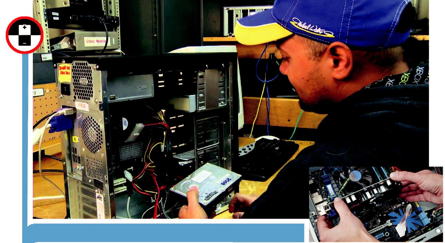 Installation Technician Computing and Peripherals:The individual at work is responsible for installing newly purchased products, troubleshooting system problems and, configuring peripherals such as printers, scanners and network devices.