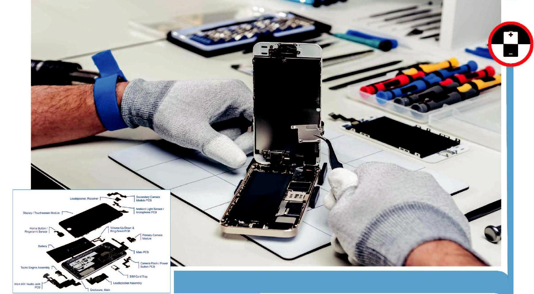 Smartphones Repair Technician:The individual at work is responsible for rectifying faults in the Smartphone brought in by the customer.  The individual receives the faulty Smartphone, diagnoses the problems, performs front end or hardware level repair as