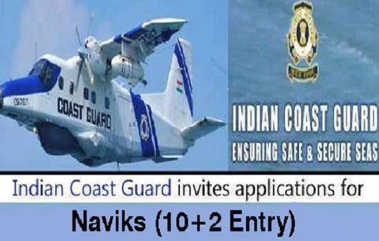 10/+2 Jobs-Indian Coast Guard Recruitment-Navik (General Duty)-Pay Scale : Rs. 21700/-Apply online-Last date 22 March 2017