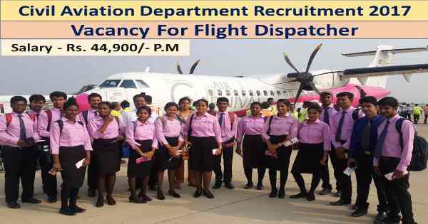 10/+2 Jobs-Civil Aviation Department-Government of Haryana Recruitment-Flight Dispatcher-Pay Scale : Rs. 44900/-Last Date 12 April 2017