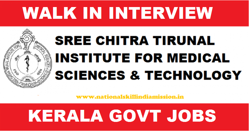 Sree Chitra Tirunal Institute for Medical Science & Technology - SCTIMST Recruitment - Technical Assistant - Walk-in-Interview - 28 November 2017