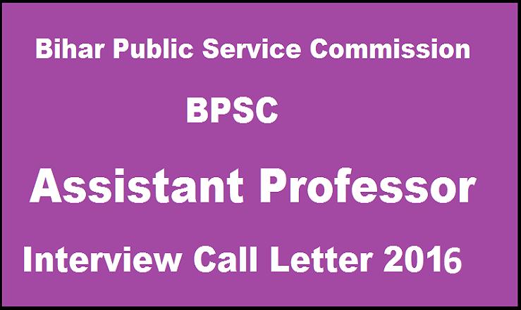 Bihar Public Service Commission-BPSC-Asst Professor