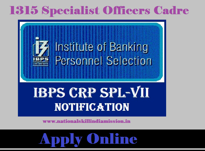 Institute of Banking Personnel Selection - IBPS Common Written Examination - 1315 Specialist Officers cadre in Nationalized Banks - Apply Online - Last Date 27 November 2017