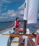 Initiation à la voile sur voile-aviron