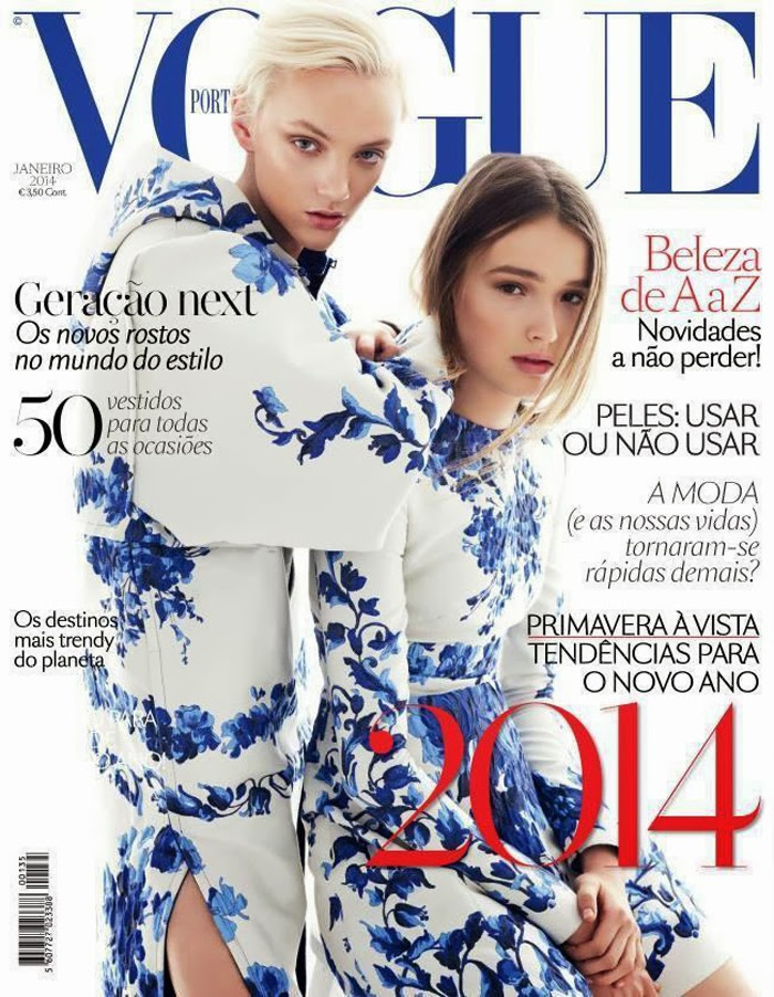 a27c8ca4f6 Maddison Brown covers the January 2014 issue of Vogue Portugal