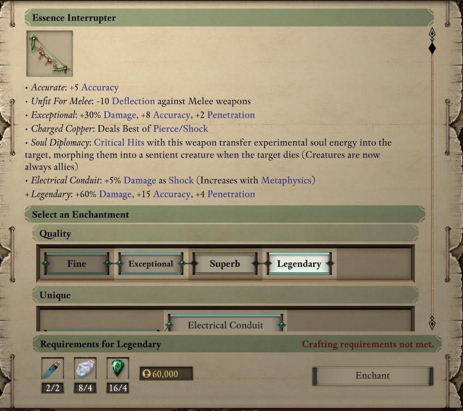 How to enchant Essence Interrupter to Legendary? - Pillars