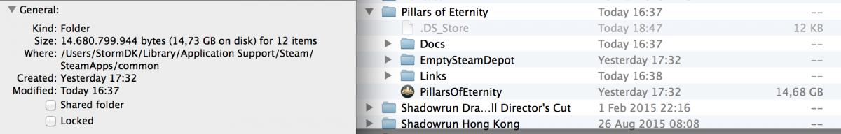 Missing Steam sub-folders on mac - Pillars of Eternity: Technical