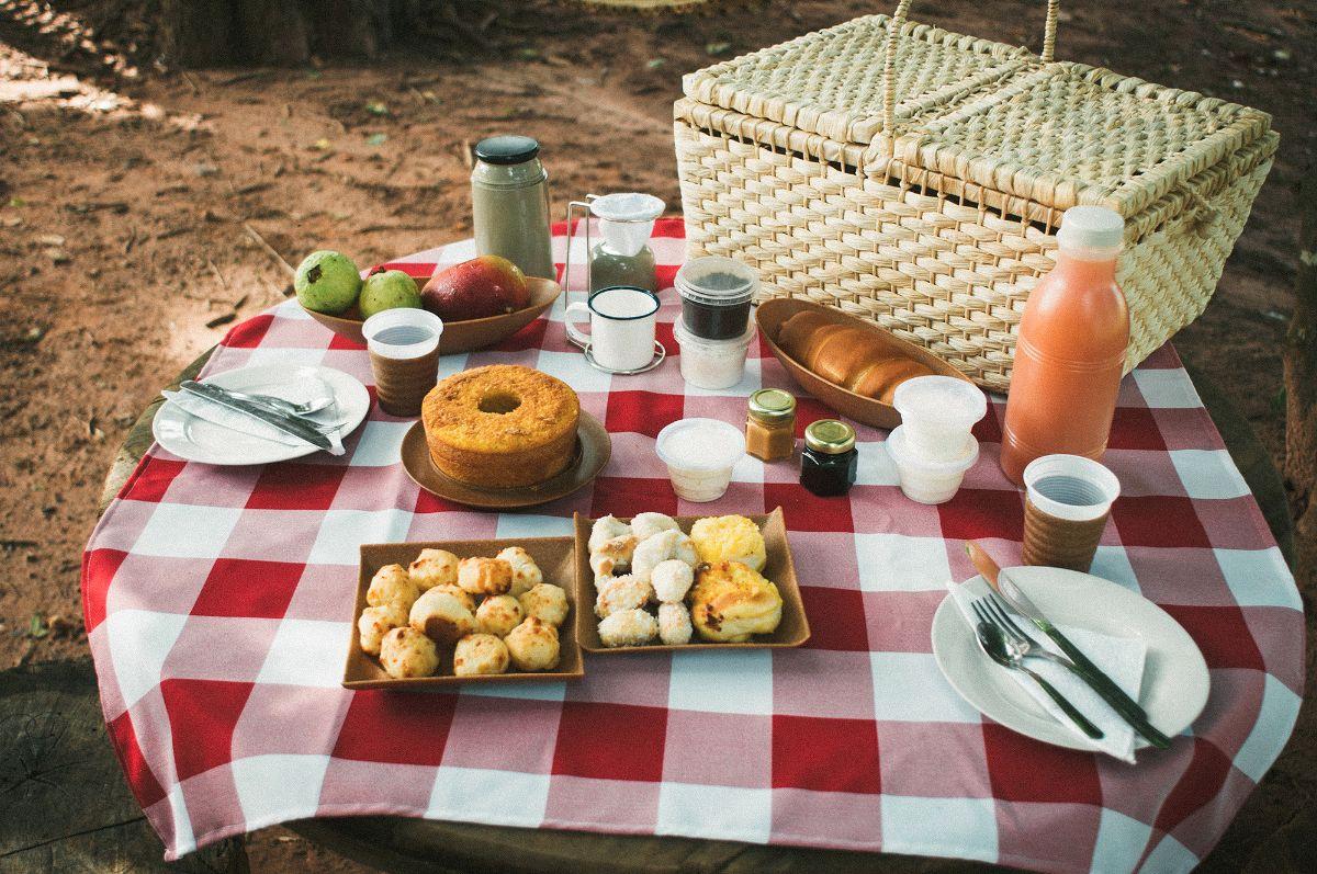 cesta de picnic caf da col nia