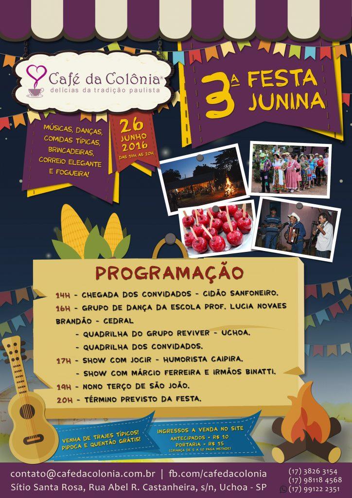 lll Festa Junina do Café da Colônia