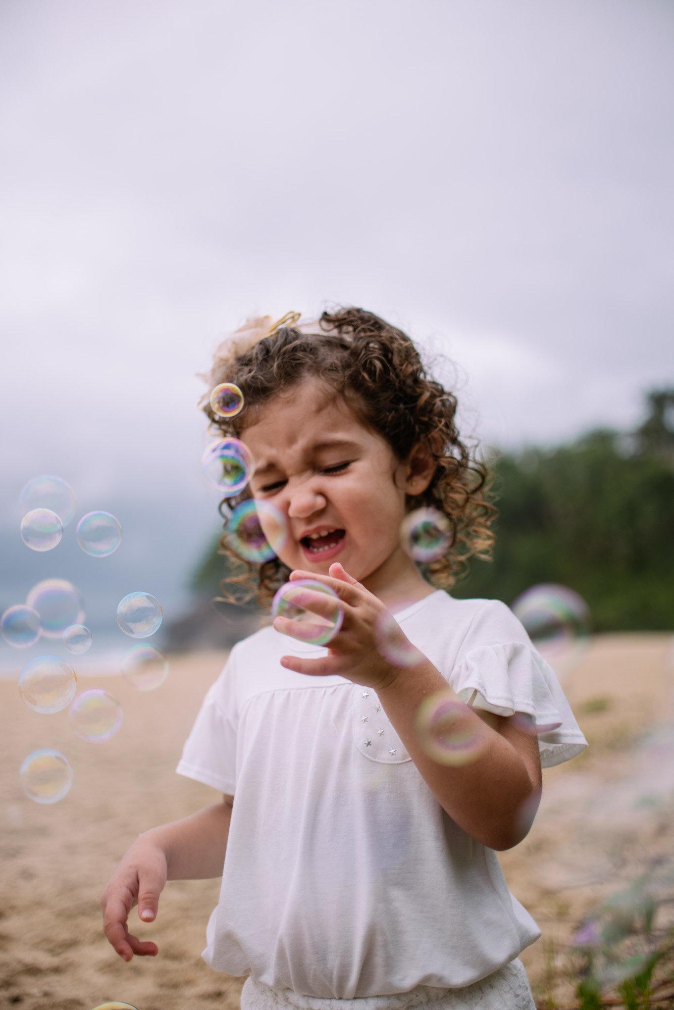 estourar bolha de sabão
