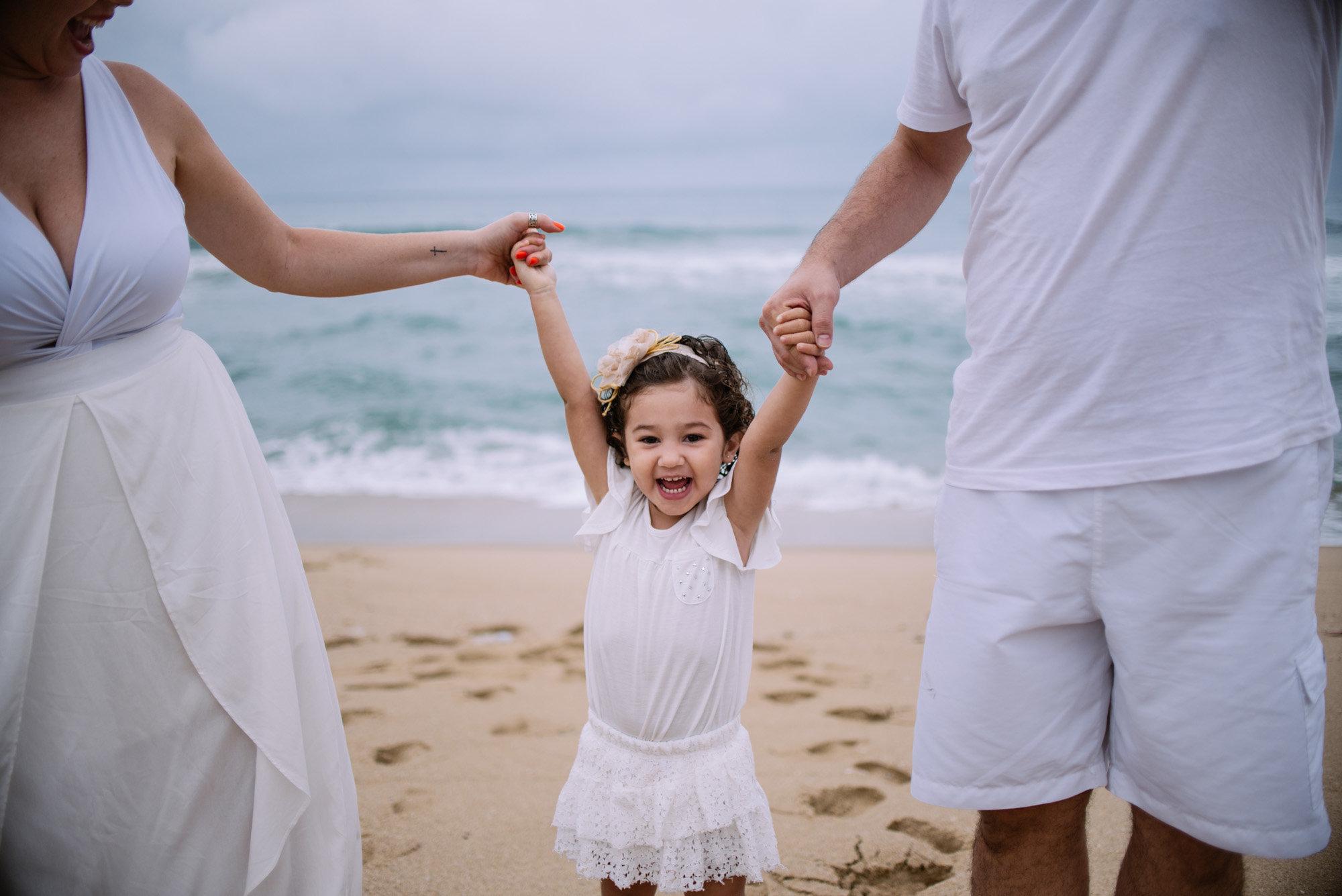 melhores momentos em família na praia