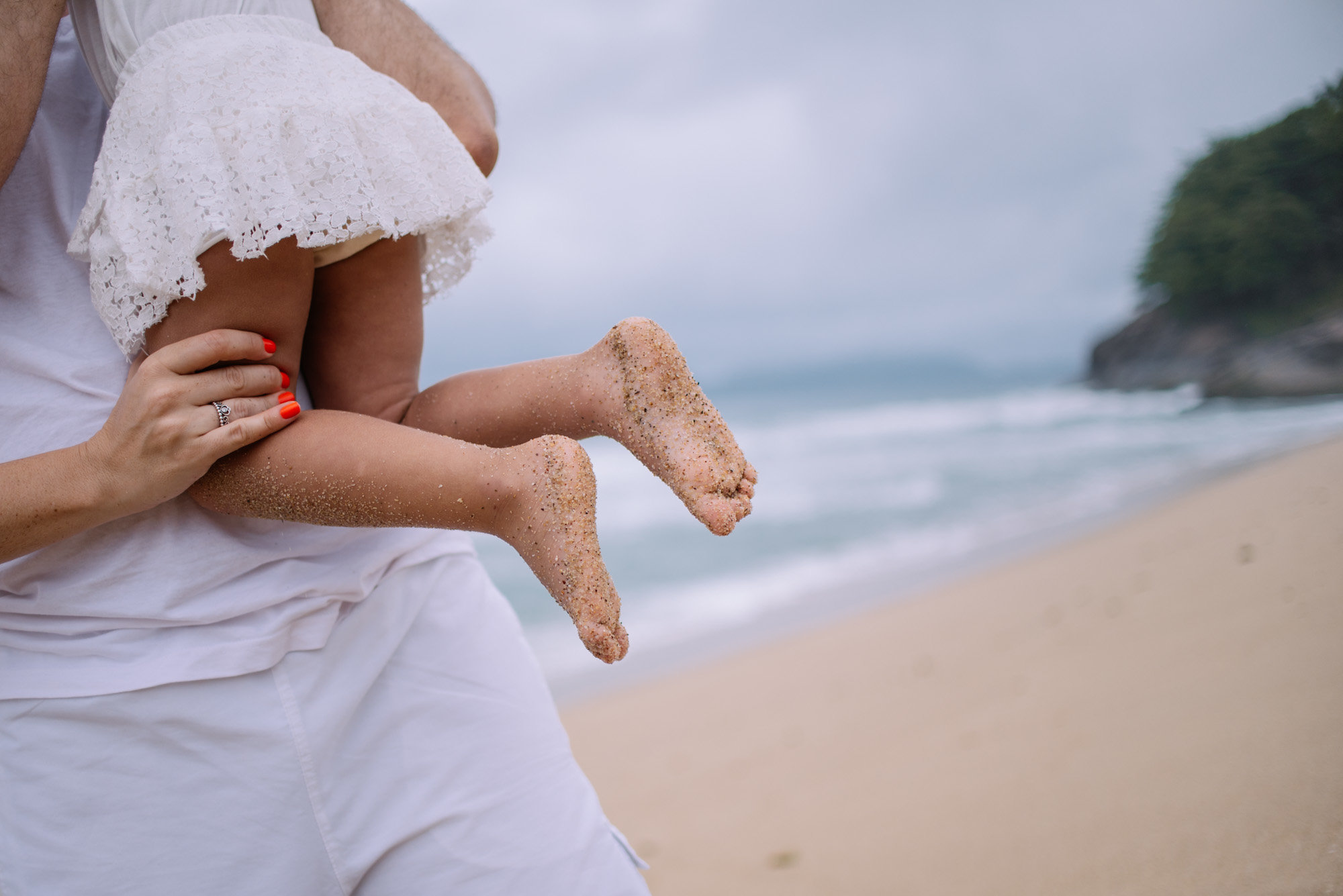 pé na areia ubatuba