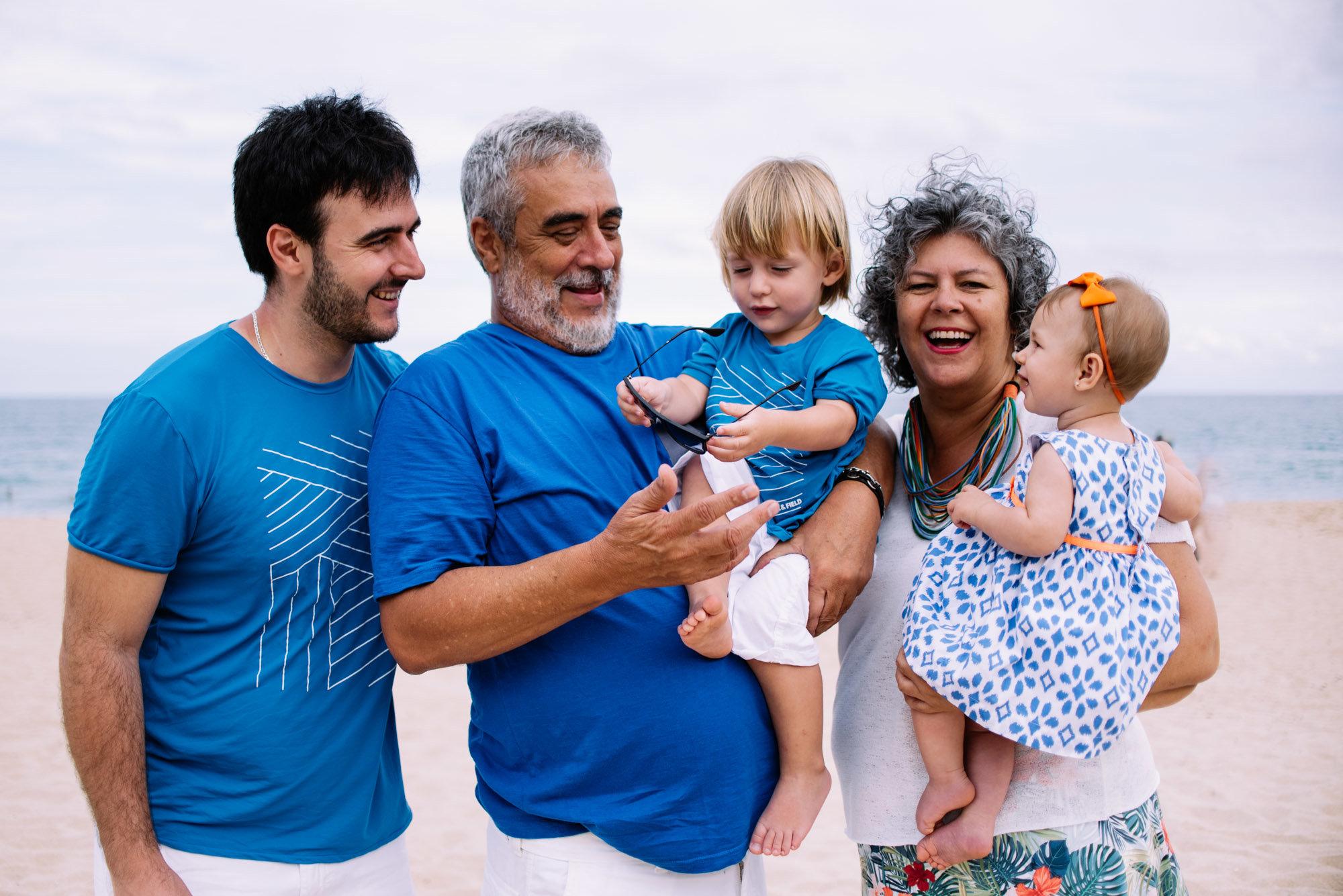 foto de familia na praia