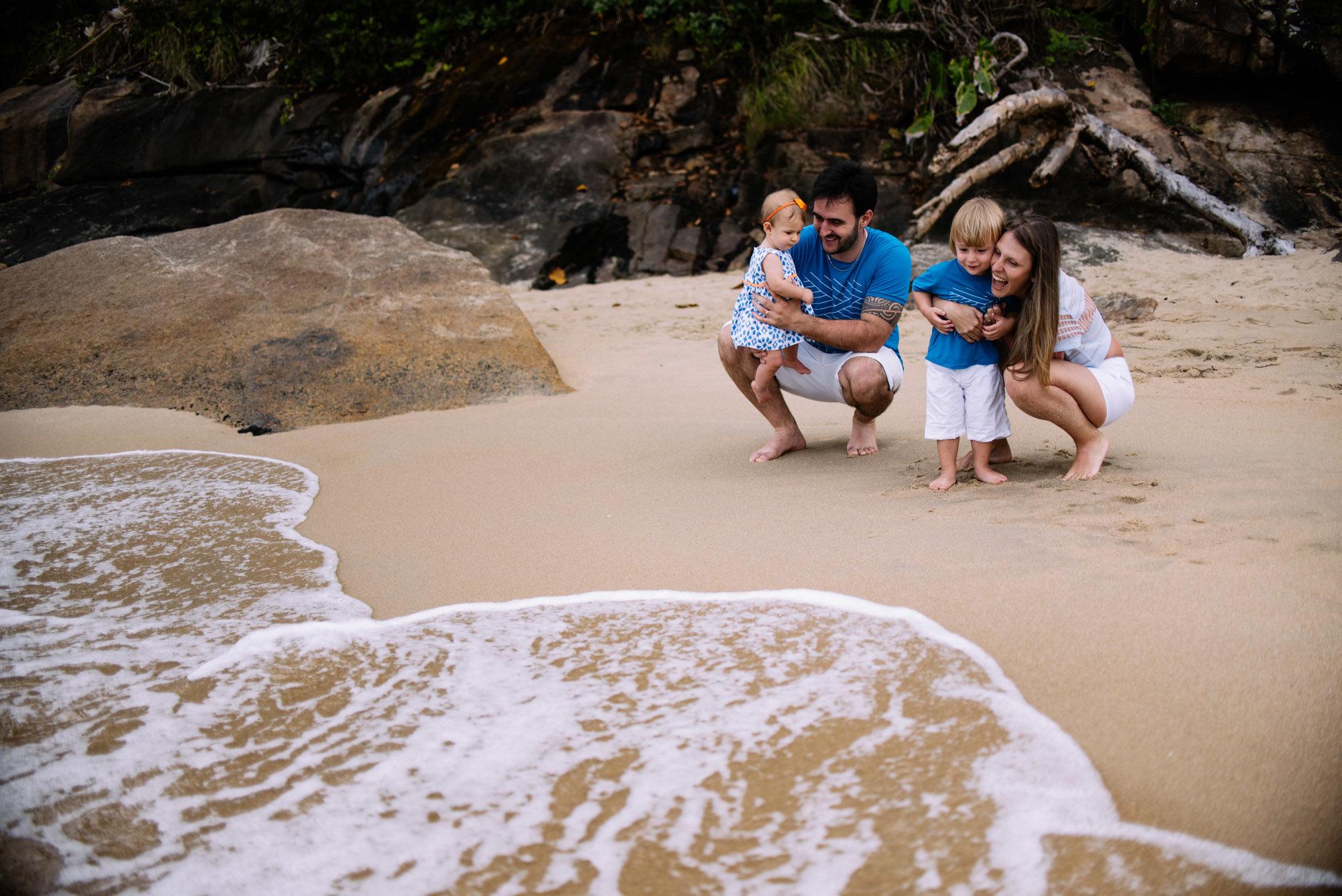 férias com a família na praia