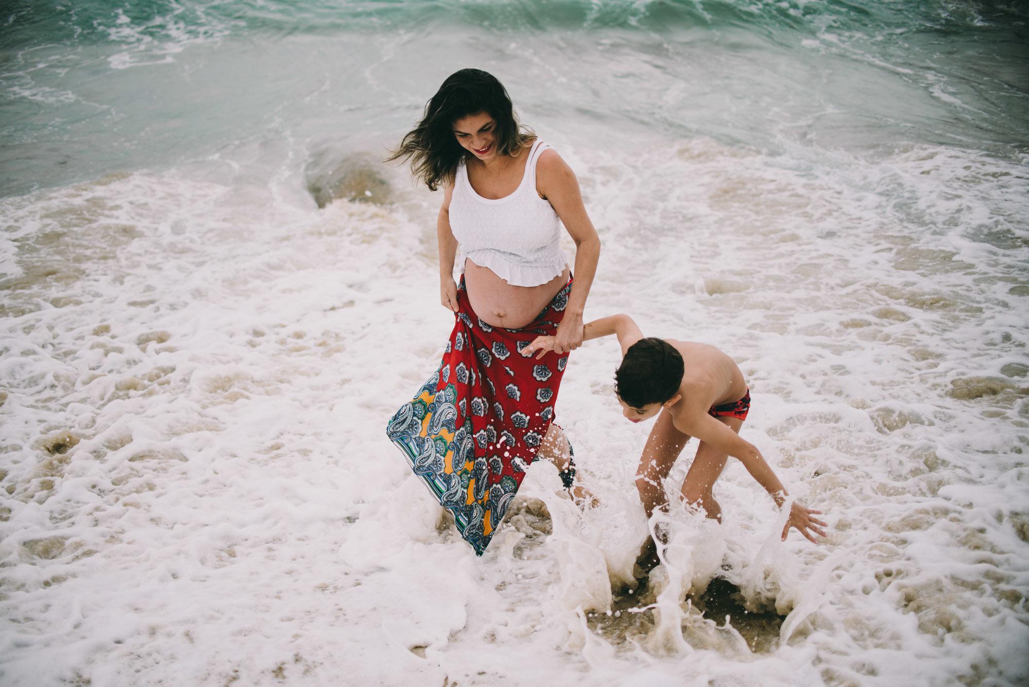 diversão na praia