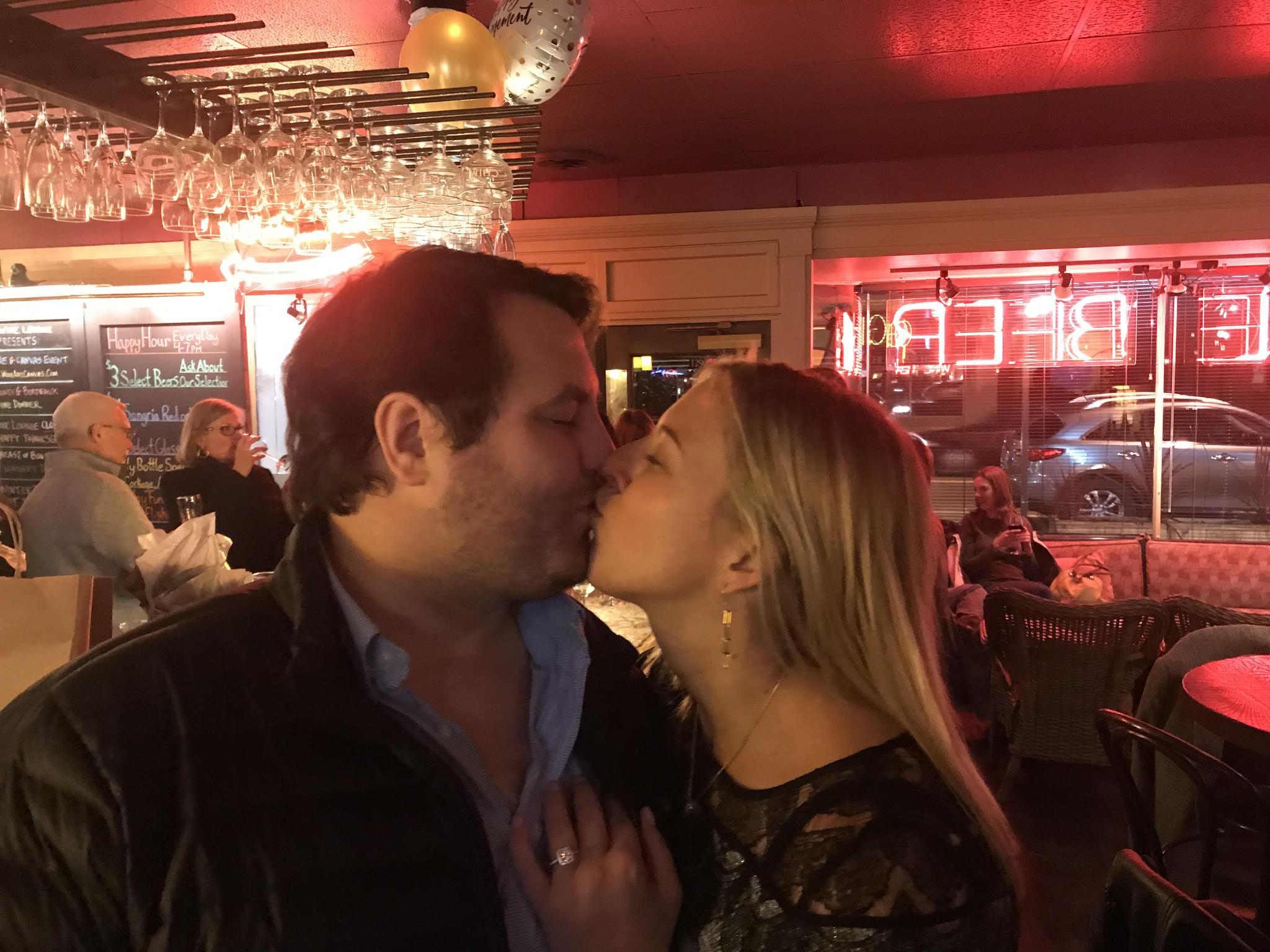 Engagement night at Spagio Wine Cellar  sc 1 st  Katie Davis u0026 Richard Spence & Katie Davis u0026 Richard Spence u2014 Minted