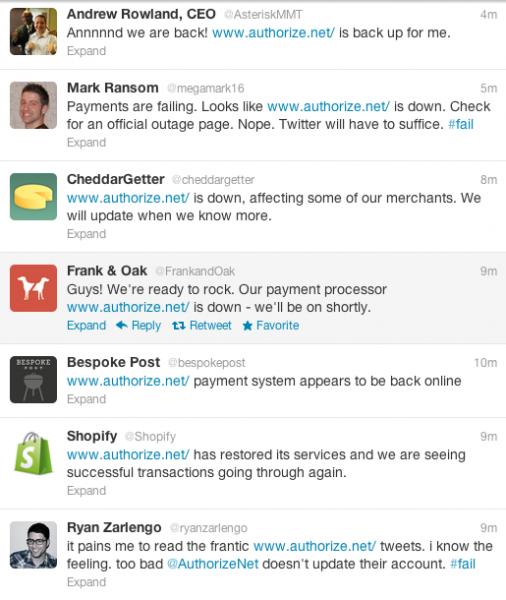 Authorize.net: Twitter