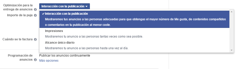 fb optimizacion