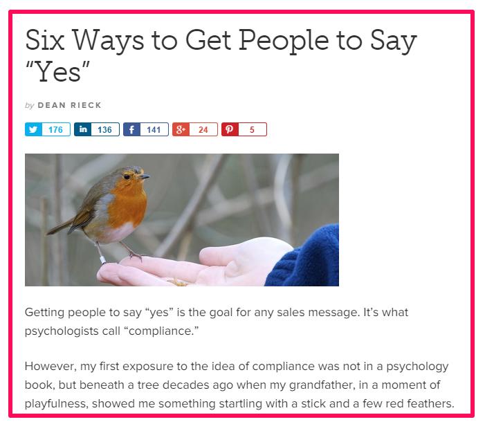 """Seis maneiras de convencer as pessoas a dizer """"sim"""")"""