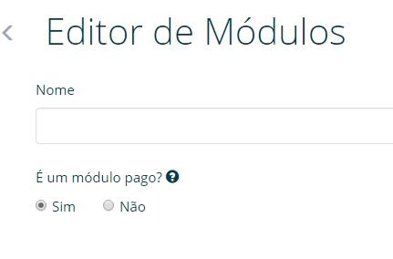 EDITOR DE MODULOS- conteudo adicional