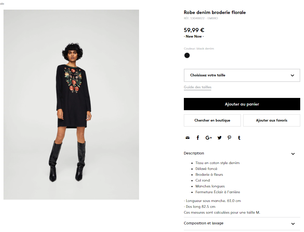 page de ventes e-commerce