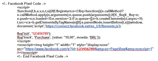 Le code du nouveau Pixel de Facebook
