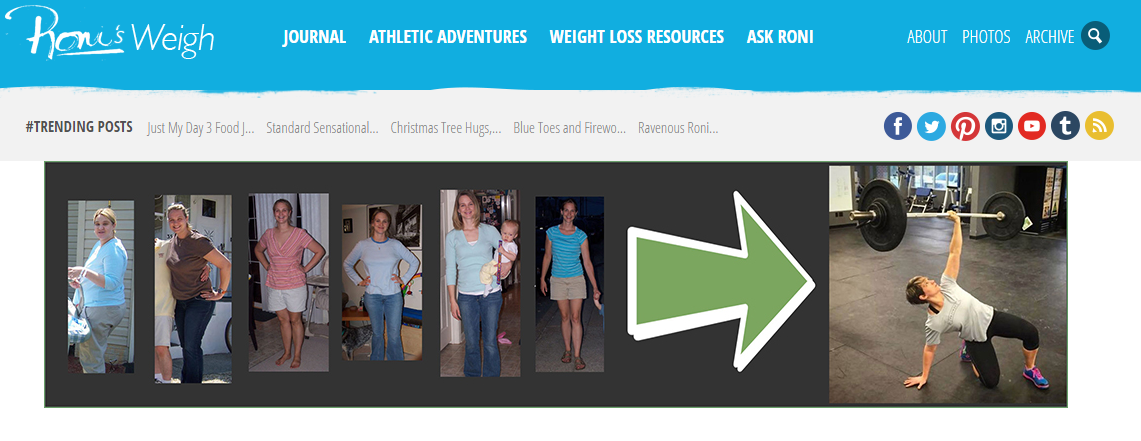 Roni started a blog to tell people about her struggle to lose weight and ended up inspiring a lot of people.