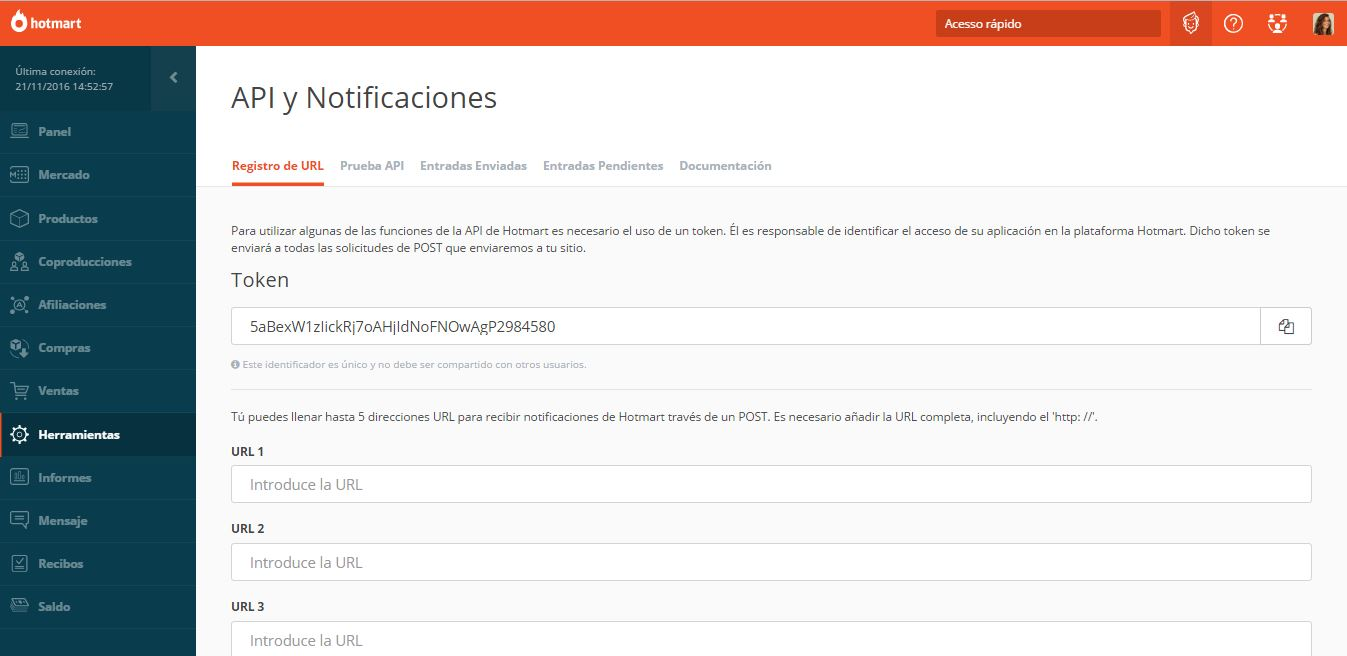 Integración y las direcciones URL de CallBack