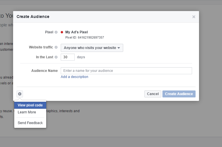 the fourth remarketing step on facebook