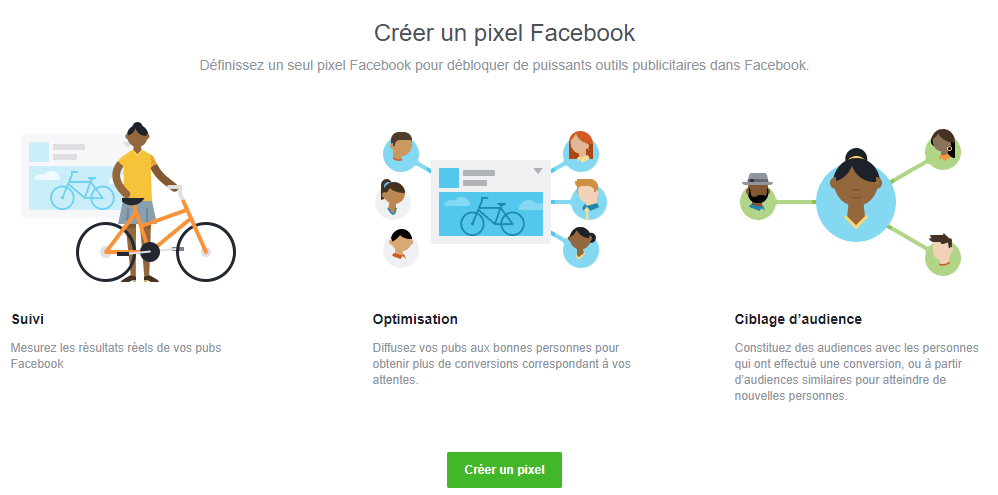 Creer un pixel facebook