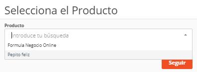 selecciona el producto