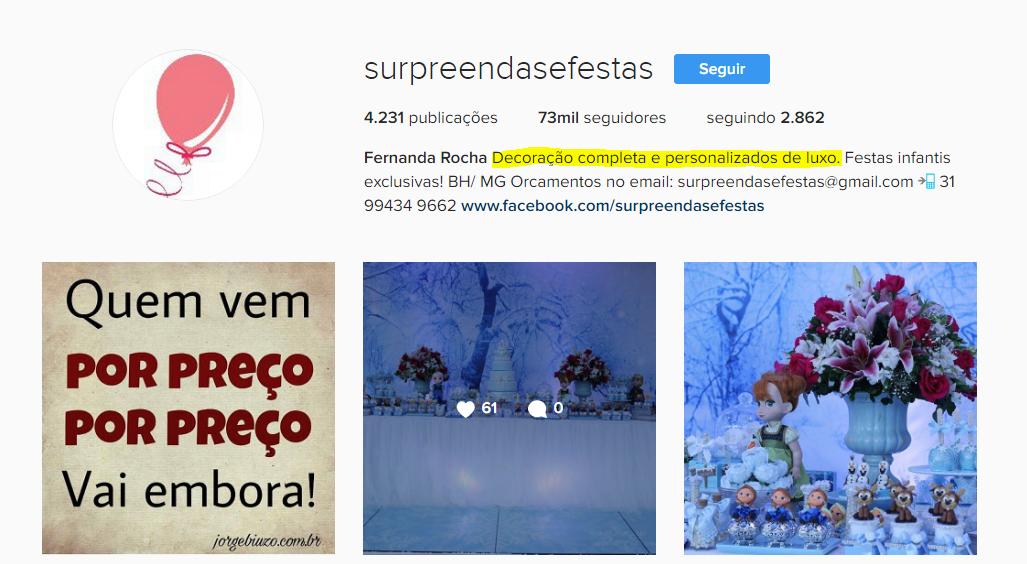 Instagram  surpreendasefestas  exemplo de produto diferente de moda. 0651a22c5bead