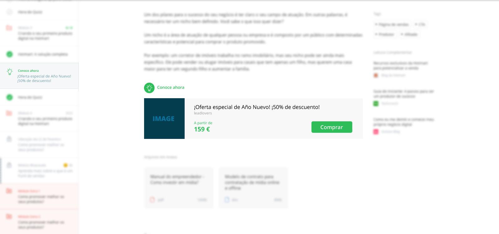 Ejemplo del widget de Club Sales