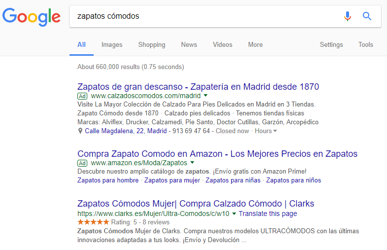 Google native ad ejemplo