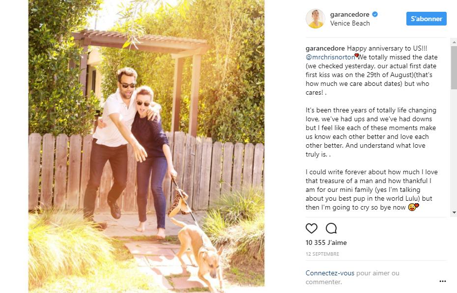 Photo de Dore avec sa femme sur instagram