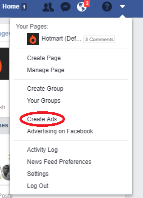 Create ads on Facebook