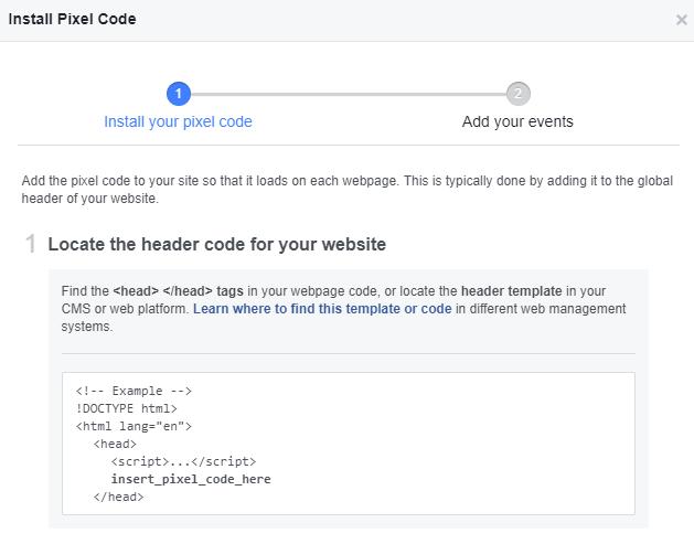 Copy the pixel base code