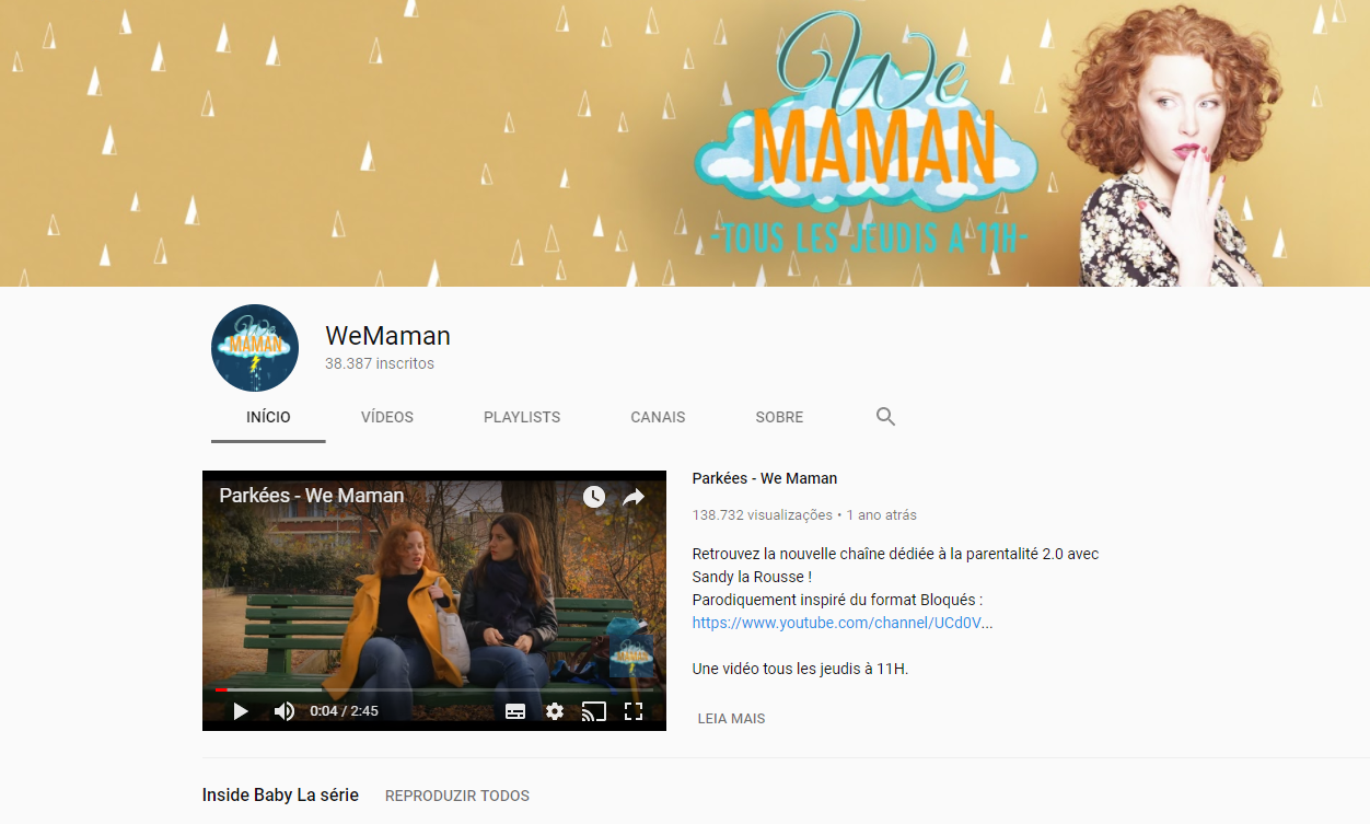 Canal WeMaman YouTube